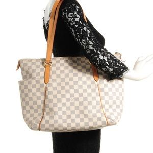Auth Louis Vuitton Damier Azur Totally MM Tote Bag